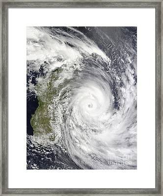 Tropical Cyclone Gael Off Madagascar Framed Print by Stocktrek Images
