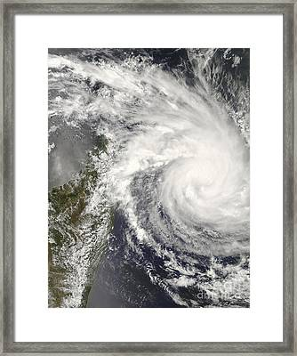 Tropical Cyclone Ivan Approaching Framed Print