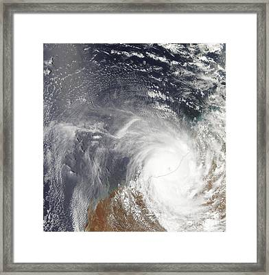 Tropical Cyclone Laurence Over Western Framed Print by Stocktrek Images