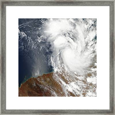 Tropical Cyclone Laurence Framed Print by Stocktrek Images