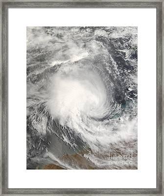 Tropical Cyclone Nicholas Approaching Framed Print