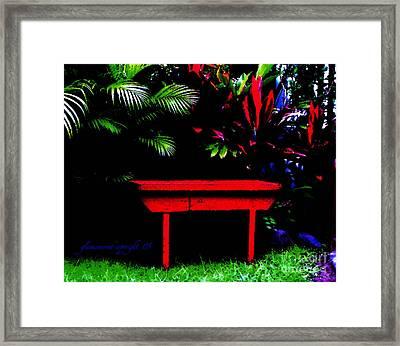 Framed Print featuring the digital art Tropical Dreams by Glenna McRae