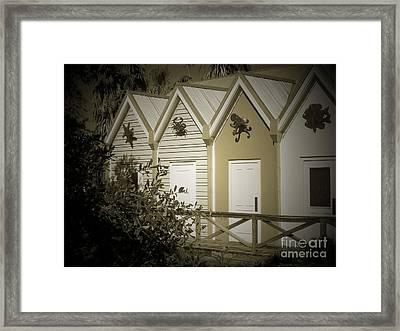 Tropical Facade Bath House Framed Print