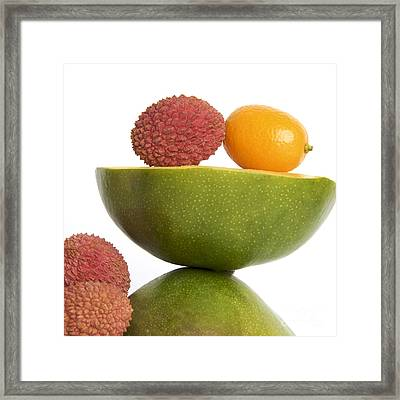 Tropical Fruits Framed Print by Bernard Jaubert