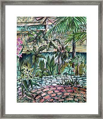 Tropical Garden Framed Print by Mindy Newman