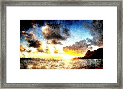 Framed Print featuring the digital art Tropical Heaven by Andrea Barbieri