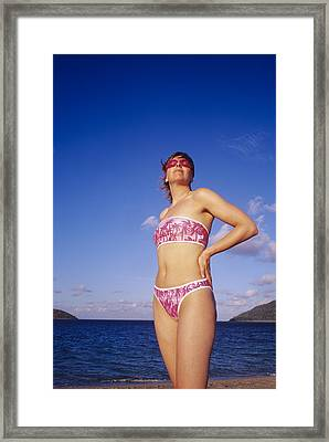 Tropical Holiday Framed Print by Carlos Dominguez