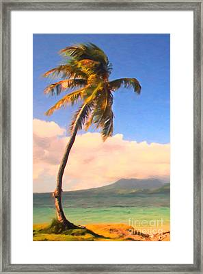 Tropical Island 2 - Painterly Framed Print by Wingsdomain Art and Photography