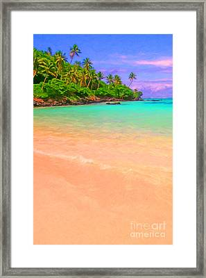 Tropical Island 3 - Painterly Framed Print by Wingsdomain Art and Photography