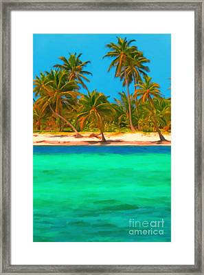 Tropical Island 5 - Painterly Framed Print by Wingsdomain Art and Photography