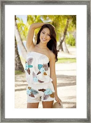 Tropical Island Beachwear Framed Print by Sri Maiava Rusden