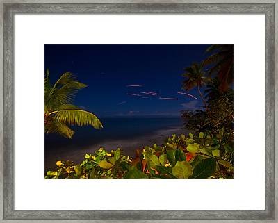 Tropical Night Framed Print by Tim Fitzwater