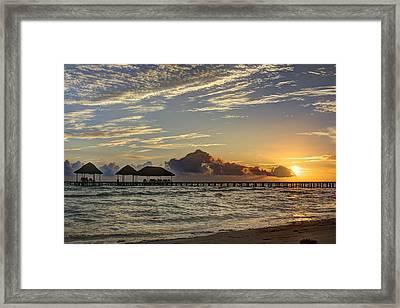 Tropical Ocean Sunset Framed Print
