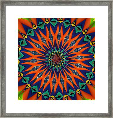 Framed Print featuring the digital art Tropical Punch by Alec Drake