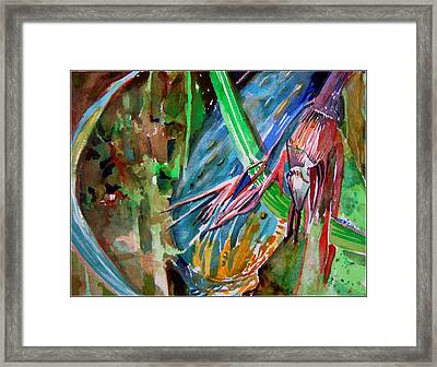 Tropical Reflections Framed Print by Mindy Newman