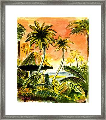 Tropical Skies Framed Print by John Keaton