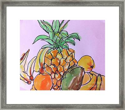 Tropical Snack Framed Print