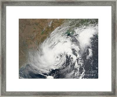 Tropical Storm Bijli Draped The East Framed Print