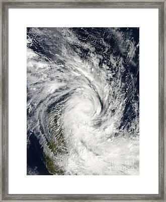 Tropical Storm Jade Coming Ashore Framed Print by Stocktrek Images