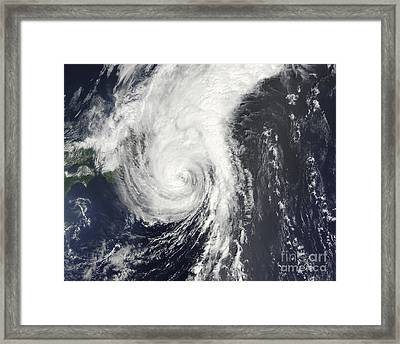 Tropical Storm Krovanh Framed Print by Stocktrek Images