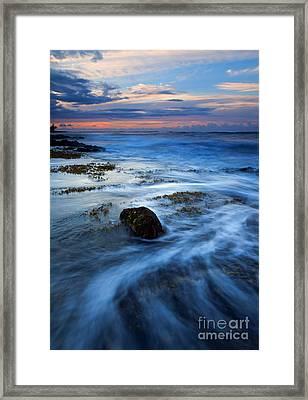 Tropical Sunrise Swirl Framed Print
