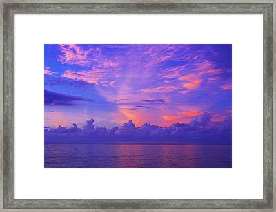 Framed Print featuring the photograph Tropical Sunset 3- St Lucia by Chester Williams