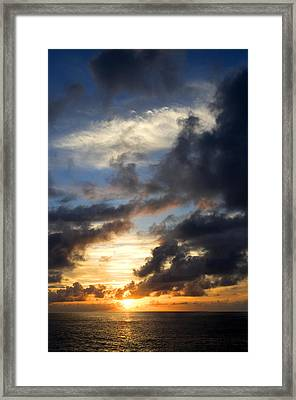 Tropical Sunset Framed Print by Fabrizio Troiani