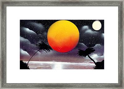 Tropical Sunset Framed Print by Marc Chambers