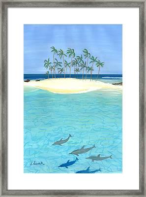 Tropical Tranquility  Framed Print by Jackie Novak