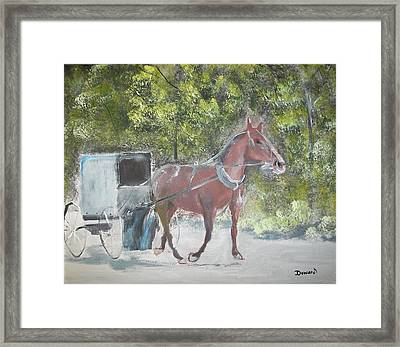 Trotting Along Framed Print