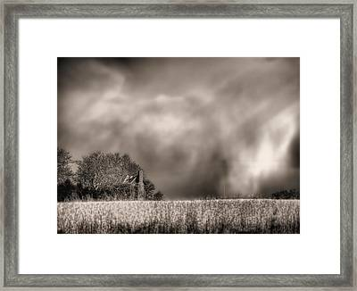 Trouble Brewing Bw Framed Print by JC Findley