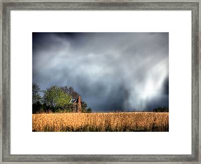 Trouble Brewing  Framed Print by JC Findley