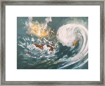 Trouble In The Ocean Framed Print