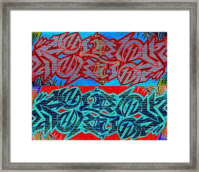 Trouble Tapestry 1 Framed Print by Randall Weidner