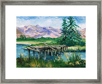 Troubled Bridge Over Water Framed Print