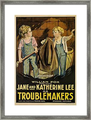Troublemakers, Jane Lee, Katherine Lee Framed Print by Everett