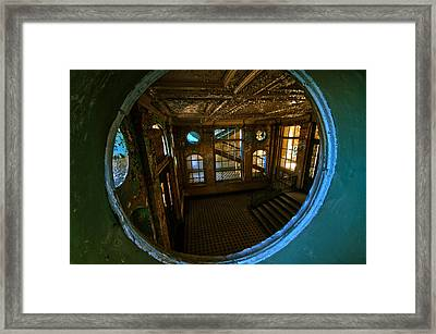 Trough The Round Window Framed Print by Nathan Wright