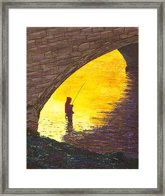 Trout Fishing Framed Print by Garry McMichael