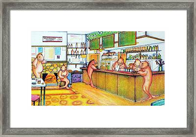 Trout Hotel Canvastown 2 Framed Print by Barbara Stirrup