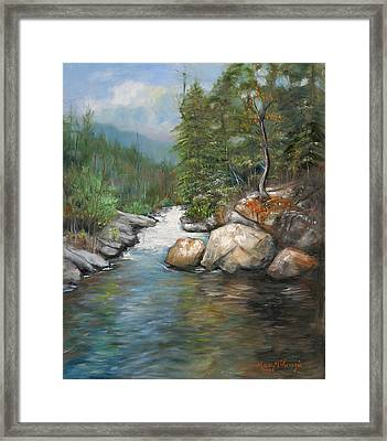 Trout Stream Framed Print by Max Mckenzie