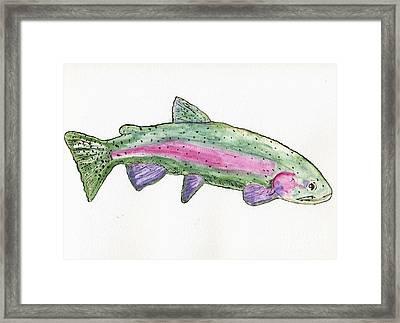 Trout Framed Print by Tom Evans