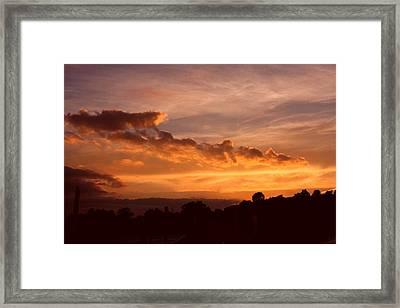 Trowbridge Sunset Framed Print