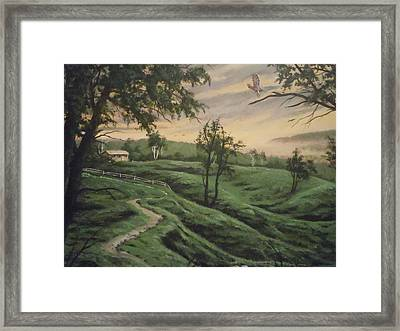 Troy Hill Farm Framed Print by James Guentner