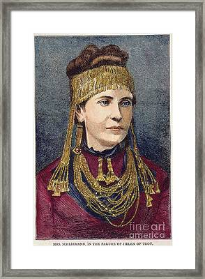Troy: Schliemann Framed Print