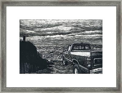 Truck At Nantucket Framed Print by Robert Goudreau