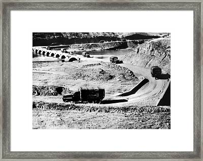 Truck Convoy In Iran Carrying War Framed Print