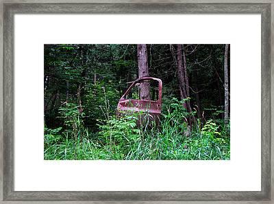 Truck Door Left Open Framed Print by Ms Judi
