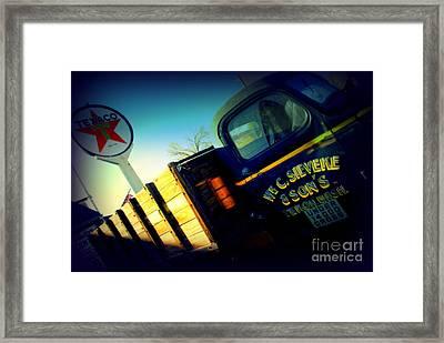 Truck On Route 66 Framed Print by Susanne Van Hulst