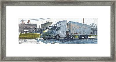 Truck Panorama Framed Print by Donald Maier