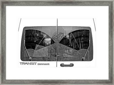 Truck Windshield Framed Print by Robert Ullmann